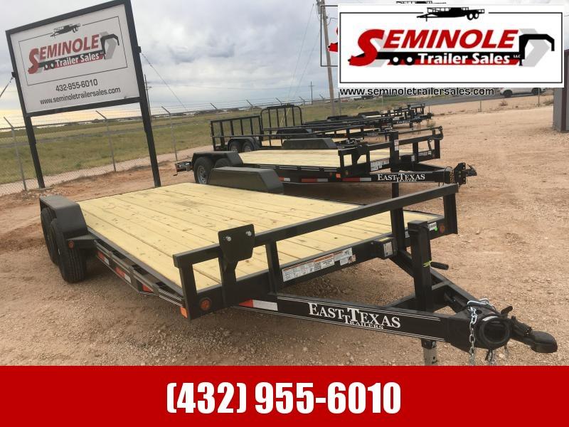 "2022 East Texas 83""20' Equipment Trailer Seminole TX"