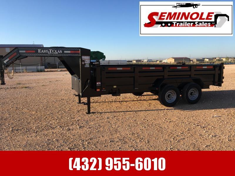 """2022 East Texas GN 83""""X16' Dump Trailer, Seminole TX"""