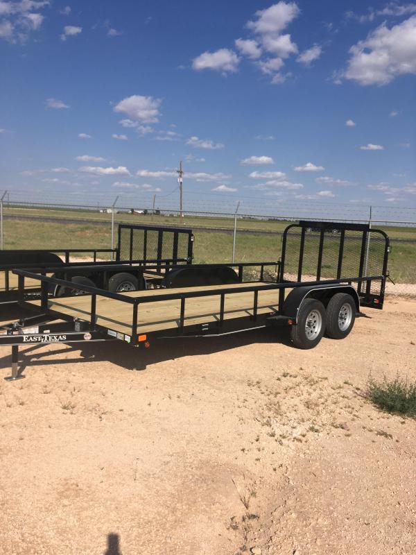 "2022 East Texas 83""X18' UT8318032 Utility Trailer"