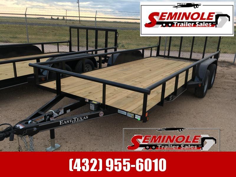 "2022 East Texas 83""X18' Utility Trailer Seminole TX"