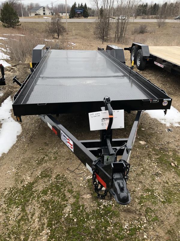2019 Liberty 7x22 Split Tilt Equipment Trailer