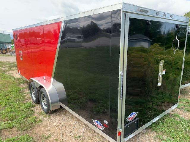 2021 Amera-Lite 7x25 aluminum Snowmobile Trailer