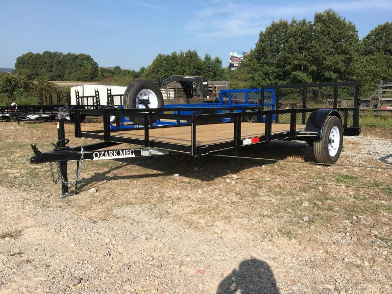 "2020 Ozark 76x14 w/ 34"" Gate and 2' Dovetail Utility Trailer"