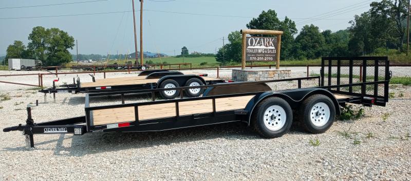2021 Ozark Trailer Mfg 76x18 7k Utility Trailer