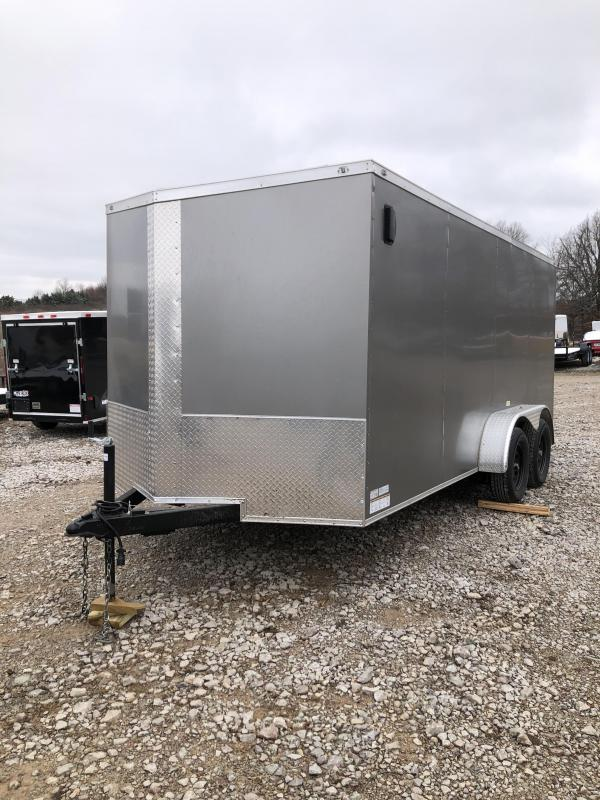 2021 Fast Cargo 7x16TA2 Gray Enclosed Cargo Trailer