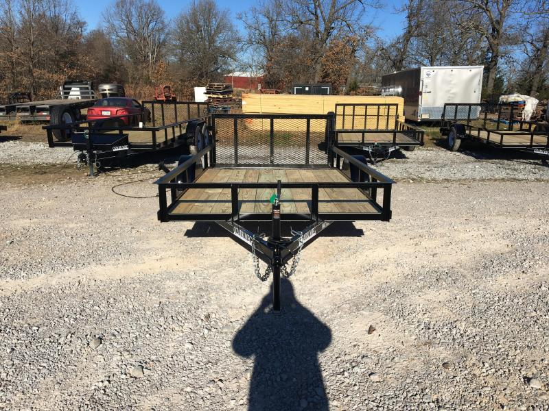 "2021 Ozark 76x12 w/ 2' Dovetail & 34"" Square Tube Gate Utility Trailer"