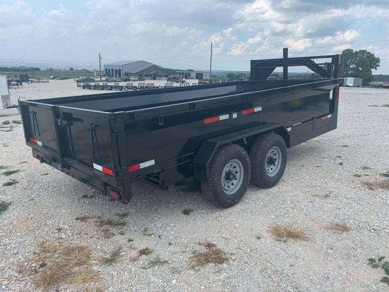 "2021 U.S. Built 7x16 Gooseneck 24"" Sidewalls w/ 8000lb Axles Dump Trailer"