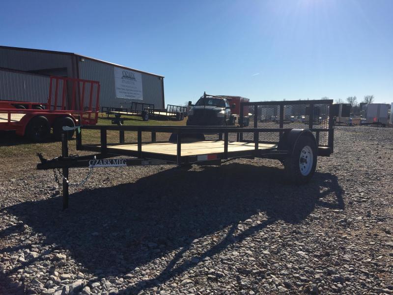 "2021 Ozark 76x12 w/ 2' Dovetail & 34"" Square Tube Gate Utility Trailer"