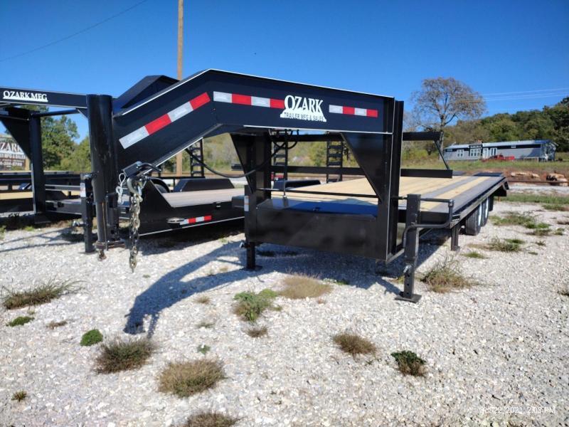 2022 Ozark Trailer Mfg 102x25 Gooseneck Deckover 14k Equipment Trailer