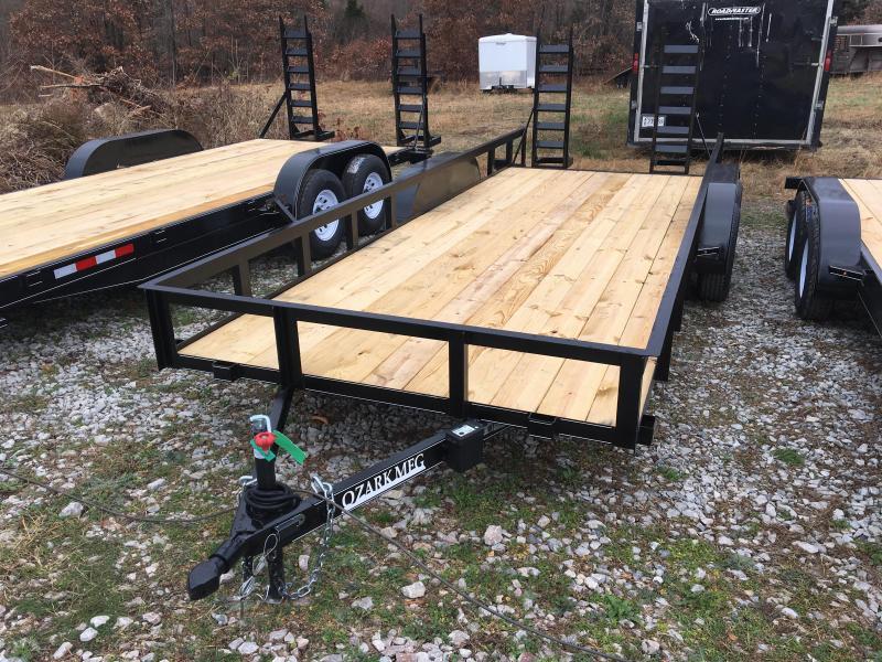 2021 Ozark 82x20 10k w/ 5' Fold Down Ramps & Kickers Utility Trailer