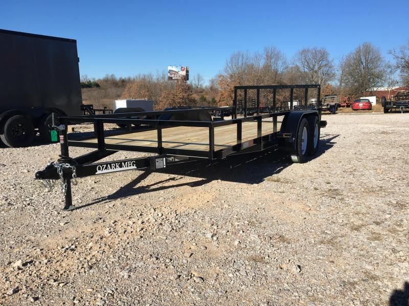 2021 Ozark 76x16 7K Utility Trailer W/ Spring Loaded 4' Gate