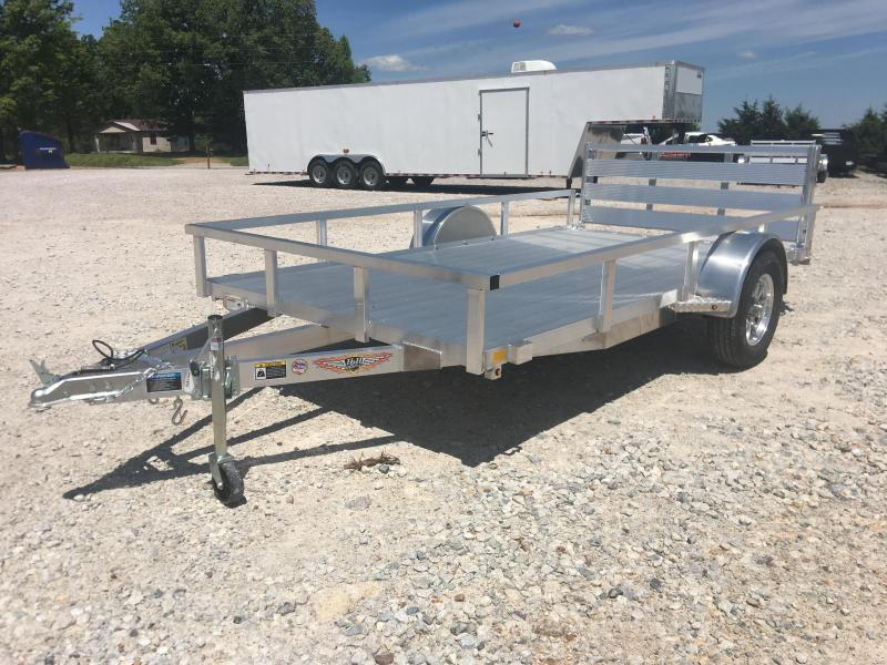 2020 H and H Trailer 76x12 Aluminum Floor Bi Fold Gate Utility Trailer Utility Trailer