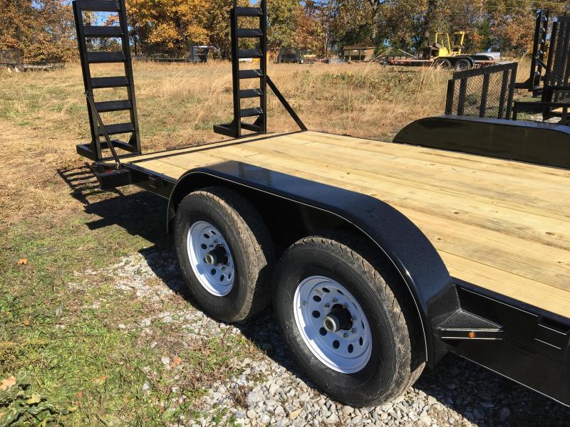 2021 Ozark 82x22 14k w/ 5' Fold Down Ramps Equipment Trailer