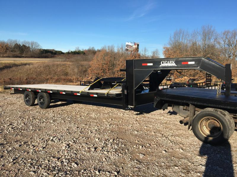 2021 Ozark 25' 14k Float w/ Slide Out Ramps Flatbed Trailer