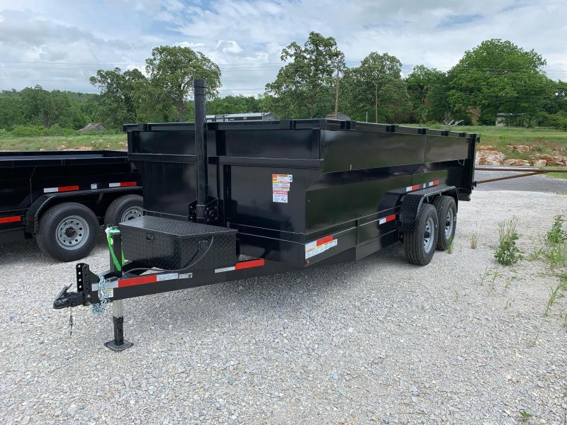 2021 U.S. Built 7x16 16k w/ 3' Sides & Ramps w/ Storage Dump Trailer