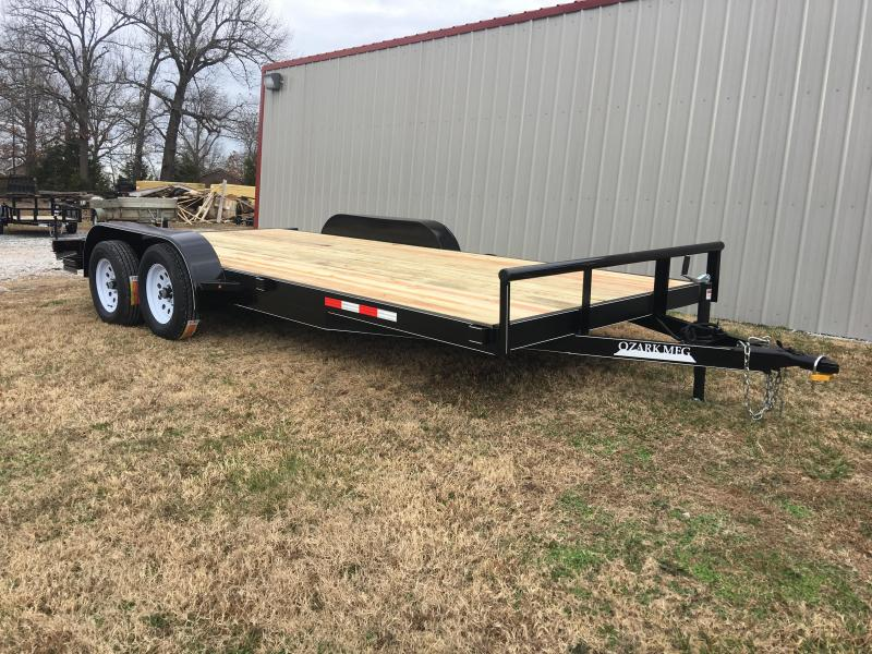 2021 Ozark 82x18 w/ 2' Dovetail & 4' Ramps Equipment Trailer
