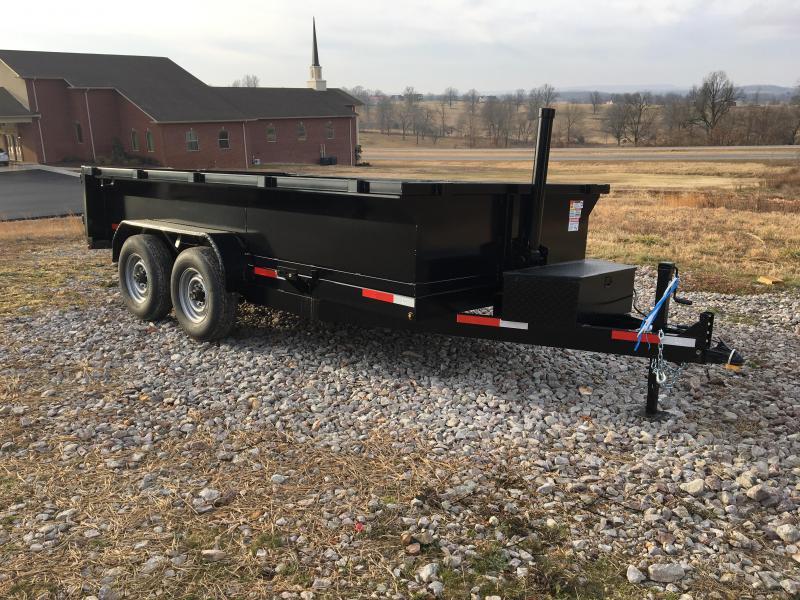 2021 U.S. Built 7x14 14k w/ 2' Sides Dump Trailer