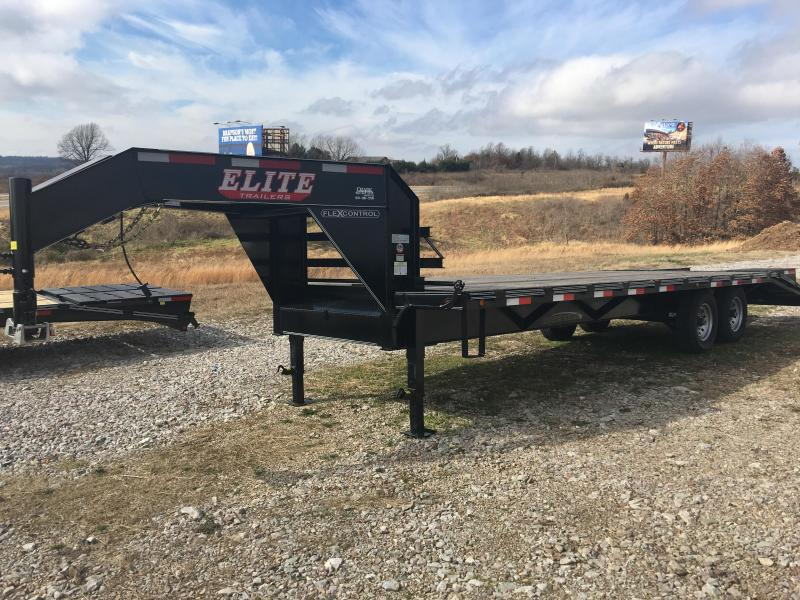 Elite 8.5 x 25 14K Deck Over Trailer w/ 5' Fold Ramps