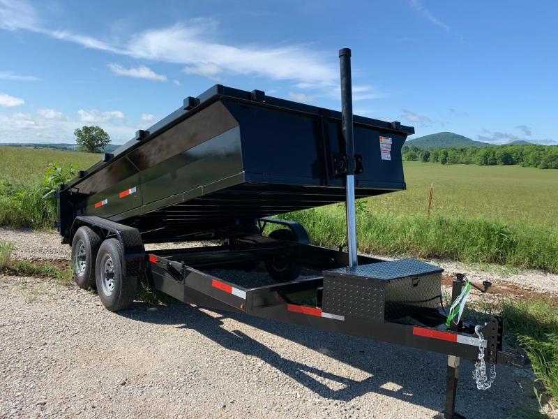 2021 U.S. Built 7x14 14k w/ 2' Sides & Ramps/Storage Dump Trailer