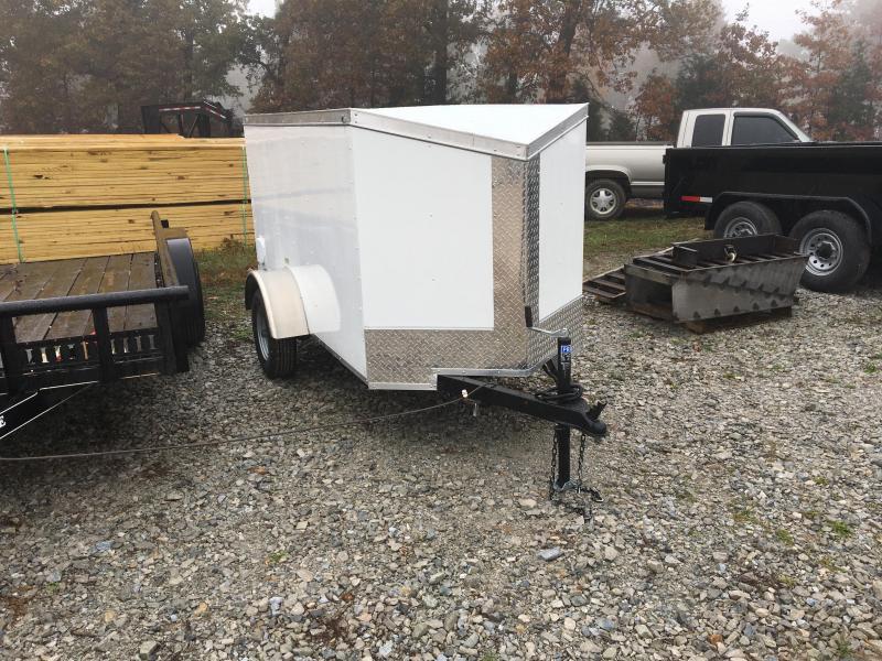 2021 Fast Cargo 4x8 White w/ Enclosed Cargo Trailer