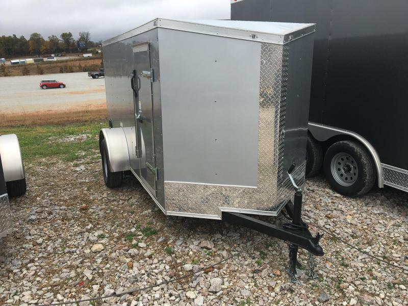 2021 Fast Cargo 5x10 Silver w/ Ramp Door Enclosed Cargo Trailer