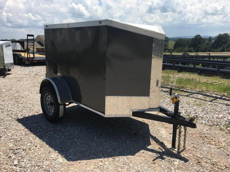 2020 Fast Cargo 4x6 Charcoal w/ Barn Doors Enclosed Cargo Trailer