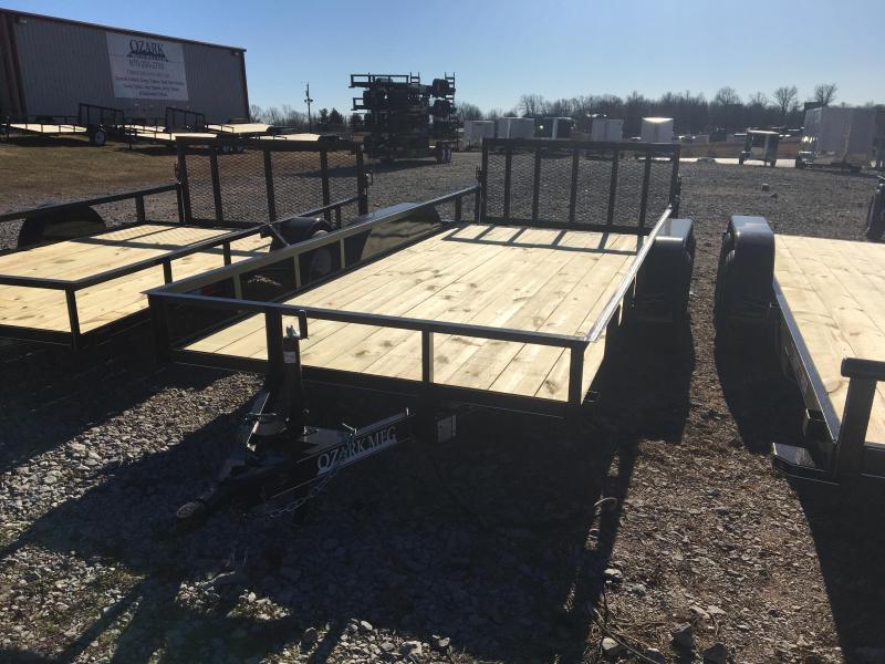 """2021 Ozark 76x16 7k Utility w/ 2' Dovetail & 34"""" Gate Utility Trailer"""