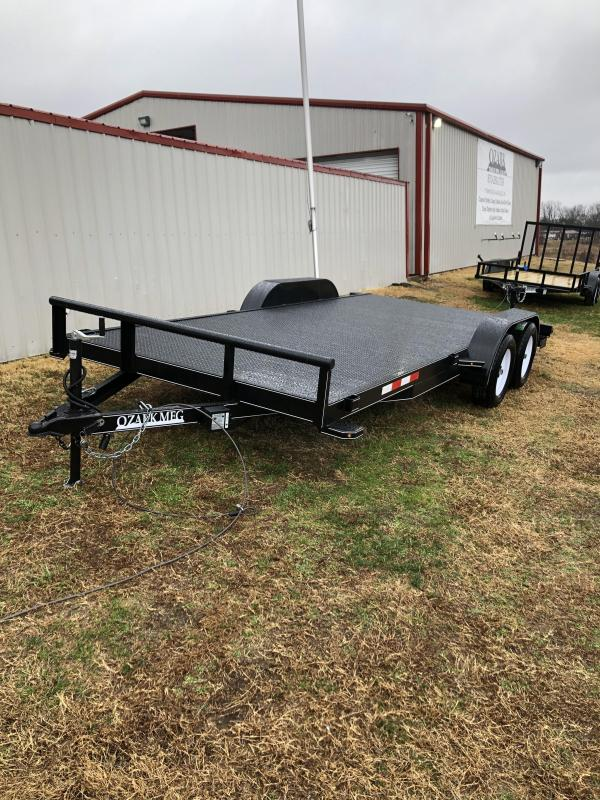 2021 Ozark 82x18 Steel Deck 7K Car / Racing Trailer