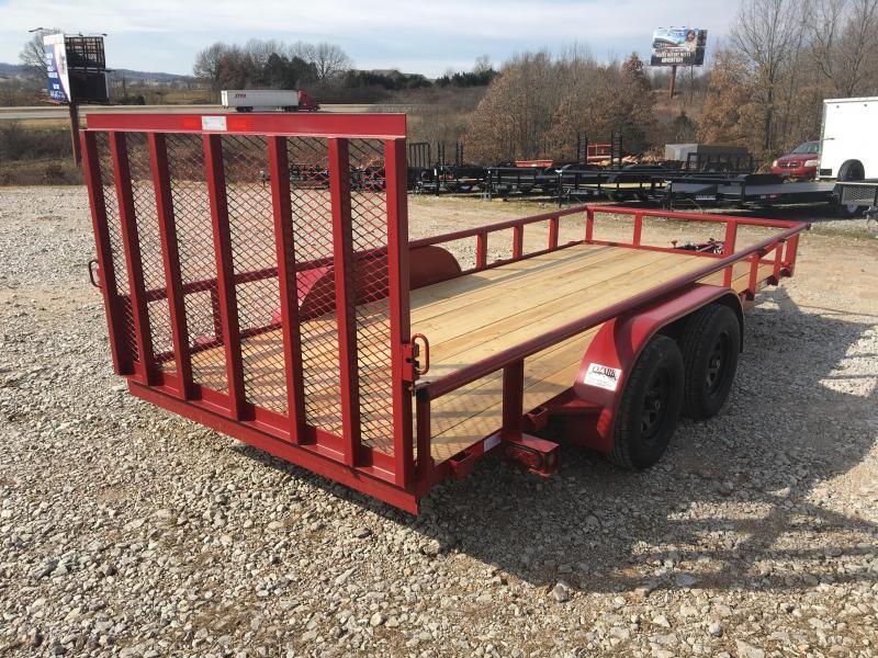 2021 Ozark 76x16 Straight Deck w/ 4' HD Gate Utility Trailer