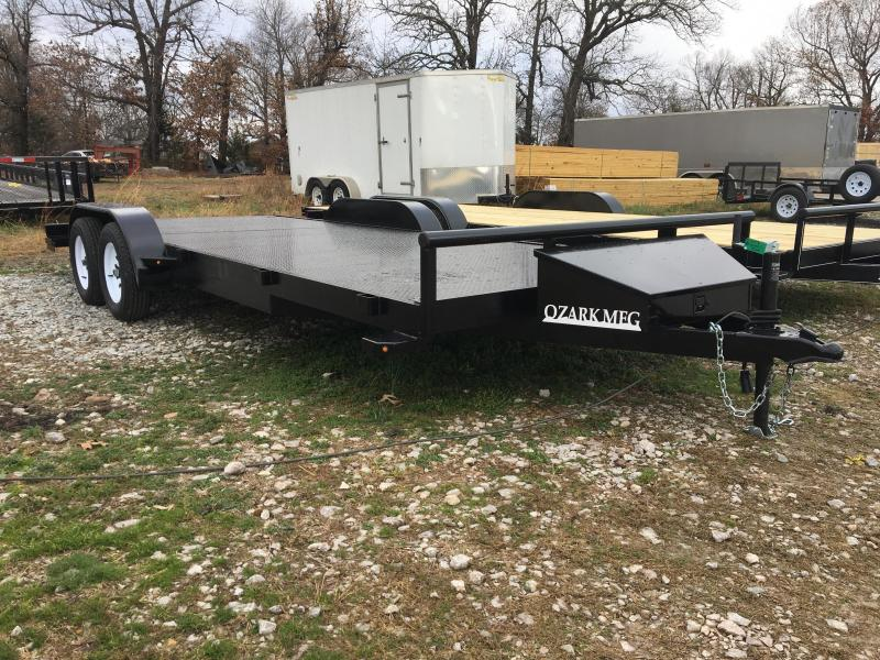 2021 Ozark 82x18 Metal Deck 7k GVWR Equipment Trailer