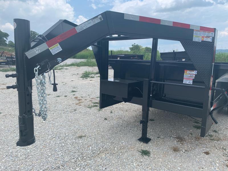 "2021 U.S. Built 7x16 Gooseneck 24"" Sidewalls w/ 7000lb Axles Dump Trailer"