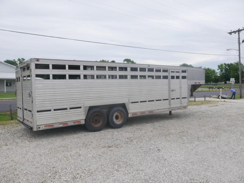 1996 EBY 8x24 Stock Livestock Trailer