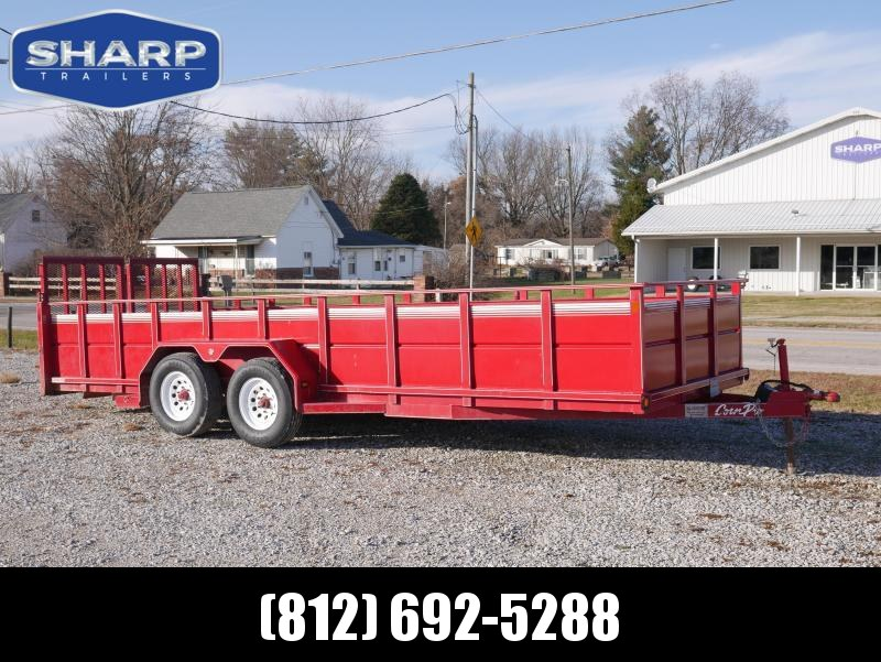 2007 CornPro UT-20 L Model High Side Utility Trailer