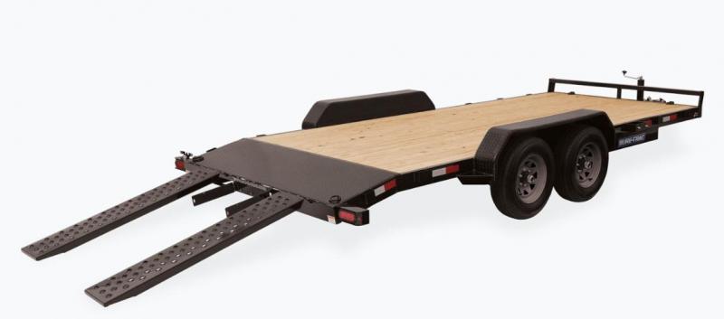 2020 Sure-Trac 7 X 20 Wood Deck Car Hauler 7k WITH OPTION (6) welded D RINGSHD DROP LEG JACK