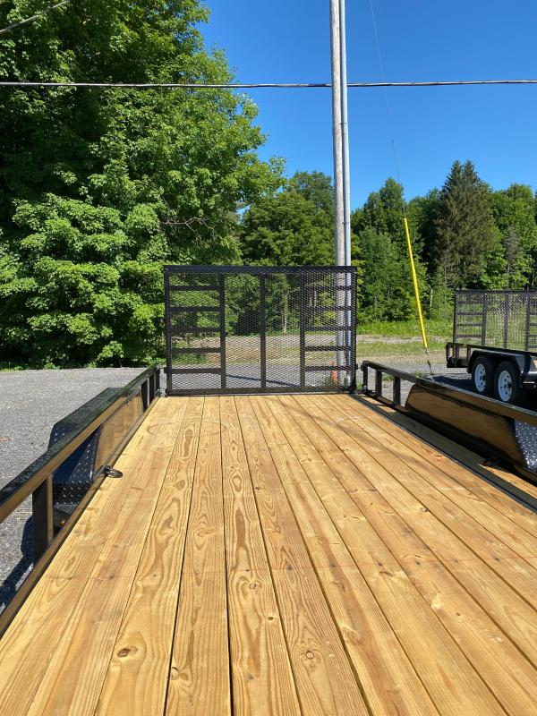 2021 Sure-Trac 7 x 18 Tube Top Utility Trailer  7K OPTIONS:  LADDER GATE                6 D RINGS