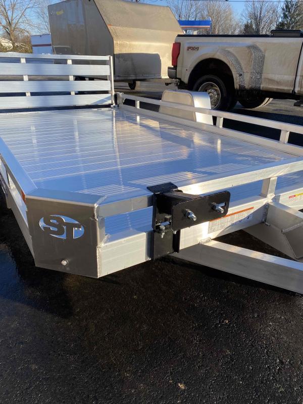 2021 Sure-Trac 7 X 12 Aluminum Low Side Utility trailer 3K