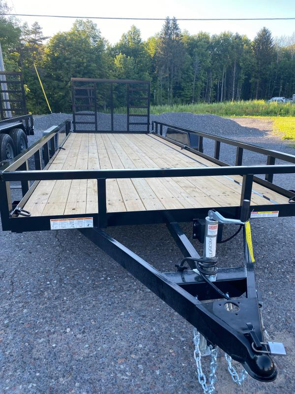 2021 Sure-Trac 7 x 20 Tube Top Utility Trailer  7K OPTIONS: LADDER GATE               6 D RINGS