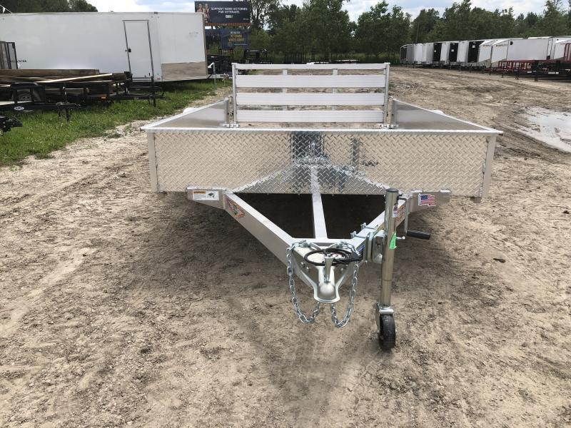 H and H 76x10 Solid Side Aluminum Utility Trailer