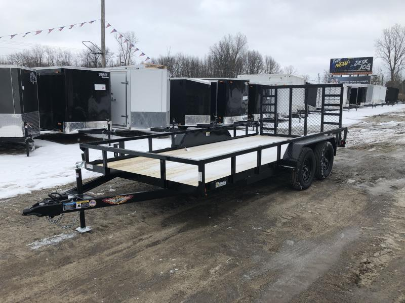 H and H Trailer 82x18 HD Utility Trailer