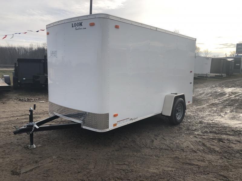 Look Trailers 6X12 Ramp Door Enclosed Cargo Trailer White