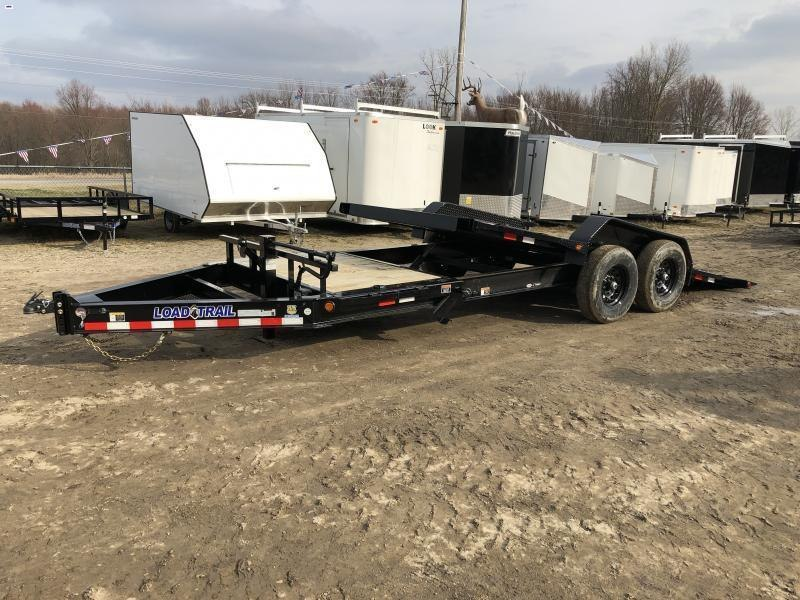 Load Trail 83x22ft 14K Split Deck Tilt Trailer