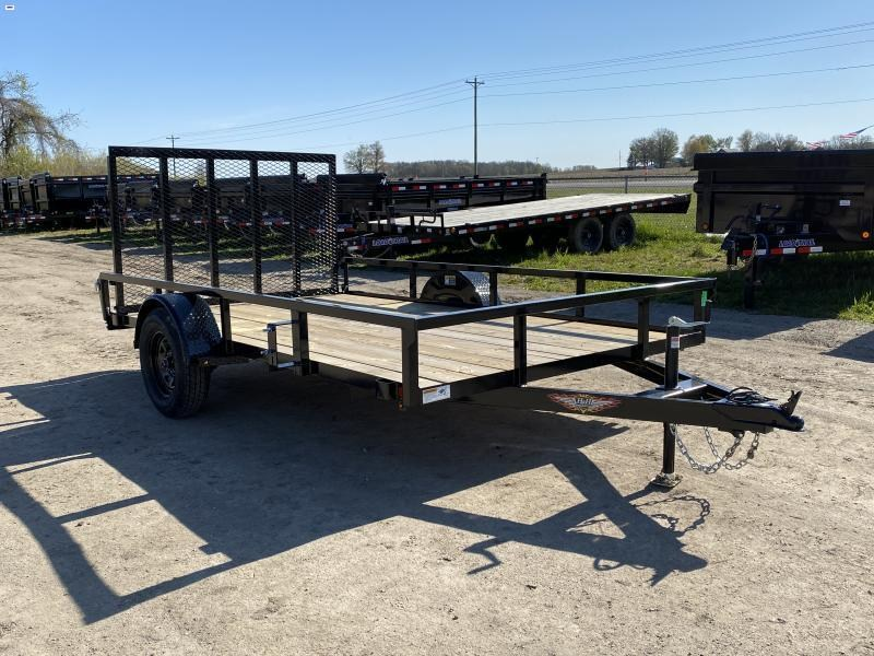 H and H 76x10 Landscape Utility Trailer