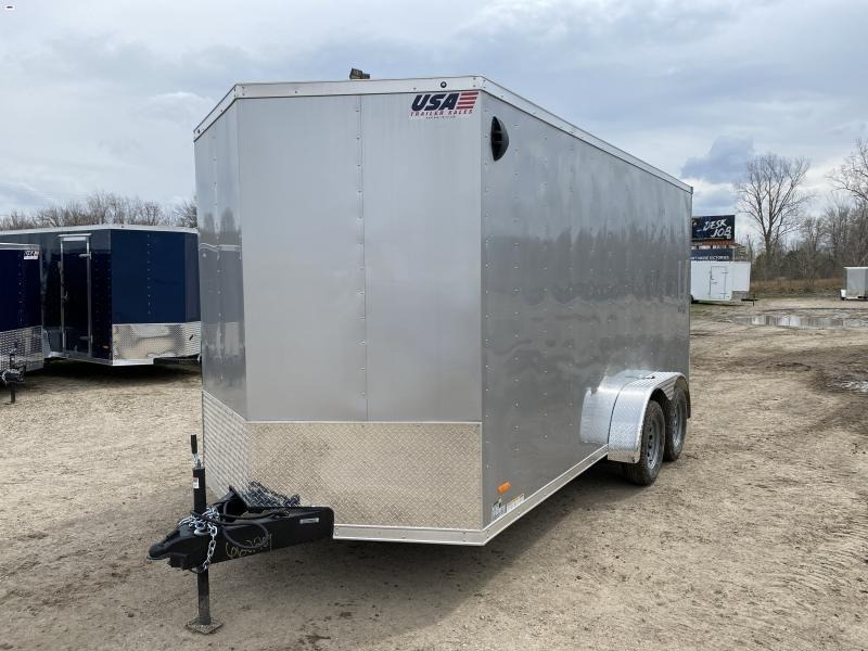 MTI Trailers MDLX 7x16TA Enclosed Cargo Trailer Silver w/7ft Interior Height