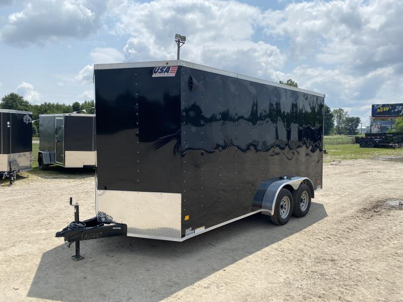 MTI Trailers MDLX 7x16TA Enclosed Cargo Trailer Black w/7ft Interior Height