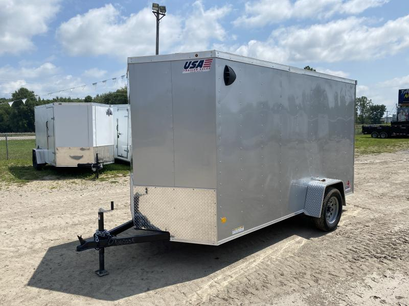 MTI Trailers MDLX 6x12SA Enclosed Cargo Trailer Silver w/ 6ft 6in Interior Height