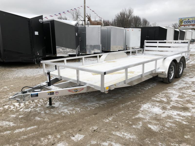 H and H 82x18 Tandem Axle Aluminum Utility Trailer