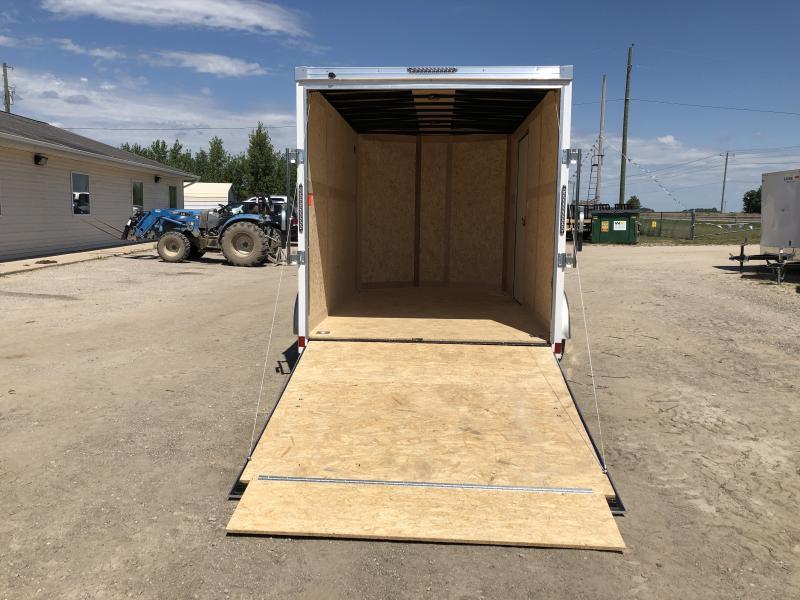 Haulmark Transport 7x12 V-Nose White Enclosed Cargo Trailer w/ 7ft Interior Height