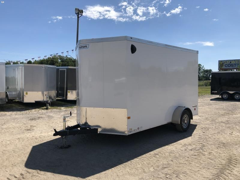 Haulmark Transport 7x12 V-Nose White Enclosed Cargo Trailer w/ 7ft Interior Height