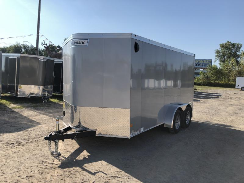 Haulmark Transport 7x14 V-Nose Ramp Door Enclosed Trailer Silver 6ft 6in Interior