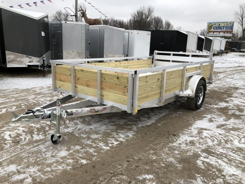 H and H Trailer 76X12 Aluminum Woodside